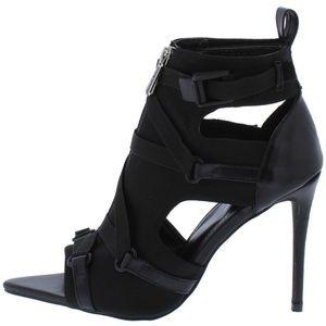 Cape Robbin Black Combat Ready Stiletto Heels